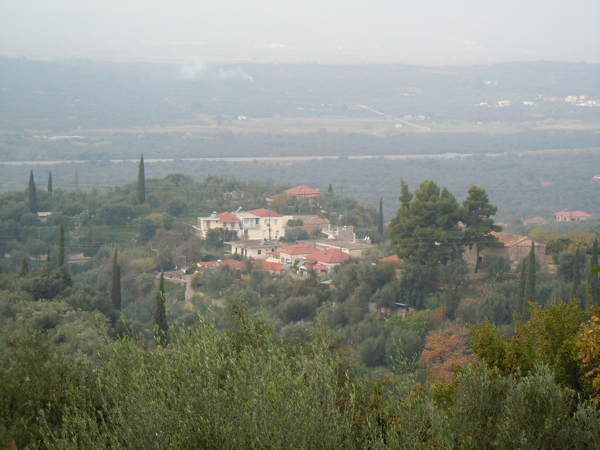 Landscape - Village Aipeia overlooking Pamisios River Valley