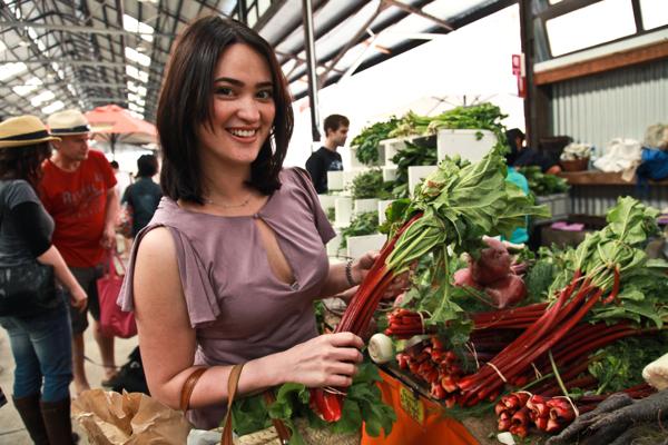 Jennifer Evans at market
